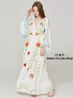 Maxi Dress ติดกระดุมหน้าเรียงยาวถึงชายกระโปรง