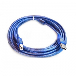 usb printer cable AM BM v2.0 3m -blue