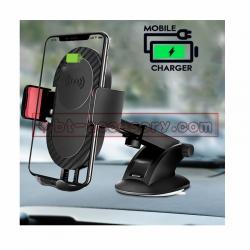 S112 wireless charging 10Wที่วางมือถือในรถ ขาจับโทรศัพท์ แบบยืดได้ ติดกระจก คอนโทรลรถ