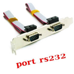 Serial port RS232 x2 เสียบกับเมนบอร์ดคอมพิวเตอร์ -Gray