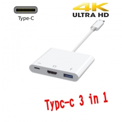usb Type c 3.1 to hdmi 4k usb 3.0 and charging 3 in 1 converter cable