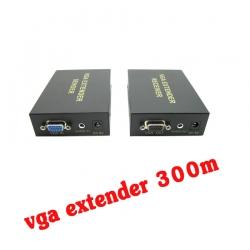 ตัวแปลงสัญญาณ VGA extender 30OM ต่อผ่านสายlan with Audio