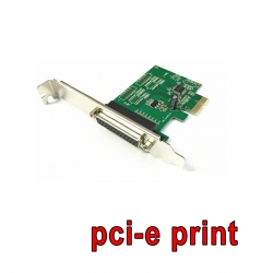 card pci-Express Parallel print port -green