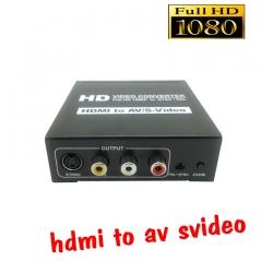 ตัวแปลงสัญญาณ hdmi to AV S-Video full hd 1080p converter
