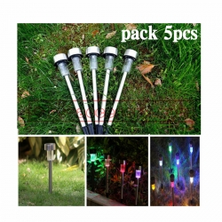 Pack5pcs Solar light 1 LED ไฟปักสนาม พลังงานแสงอาทิตย์โซล่าเซลล์ แสง7สี
