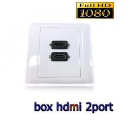 หน้ากากเต้ารับสาย HDMI full hd 2ช่องoutlet WALL SOCKET ติดในผนัง