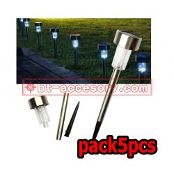 Pack5pcs Solar light 1 LED ไฟปักสนาม พลังงานแสงอาทิตย์โซล่าเซลล์ แสงขาว
