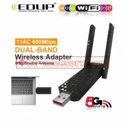 EDUP ตัวรับสัญญาณwifi USB 3.0 AC DUAL BAND WIFI 600MBPS WITH DOUBLE ANTENNAS EP-AC1625