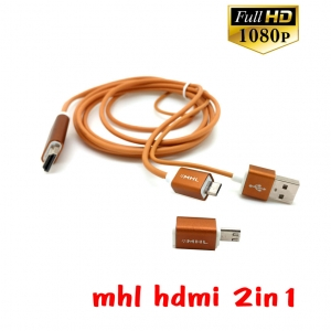 MHL HDMI CABLE HDTV 2in1 full hd 1080p for SAMSUNG note2/3/4/8