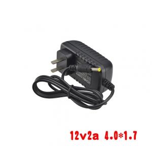 adapterที่ชาร์จ DC 12v 2a หัวเล็ก 4.0*1.7mm -black