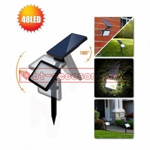 Solar light ไฟติดผนัง+สวน พลังงานแสงอาทิตย์ 48 LED