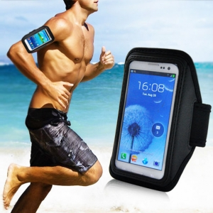 arm bard สายรัดแขนกับสมาร์ทโฟนihone 4 4s 5 5s 5c -black