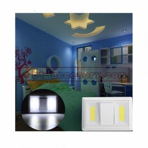 สวิทซ์ไฟCOB LED 2LED ไฟติดผนัง พร้อมสวิตเปิด/ปิด ไม่ต้องเดินสาย ติดทางเดิน ตู้เสื้อผ้า ในรถ ฯ 3w