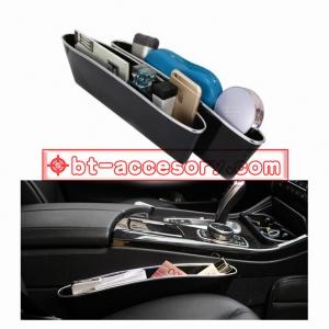 กล่องเก็บของข้างเบาะหุ้มหนัง ในรถยนต์ แพ็2ตัว