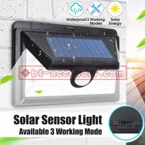 Solar light motion sensor 36led three way ไฟติดผนังโซล่าเซลล์พลังงานแสงอาทิตย์ ตัวเล็กกะทัดรัด 3 โหมด