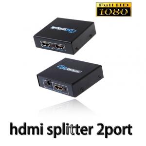 HDMI splitter เข้า1ออก2จอ FULL HD 3D เวอร์ชั่น1.4 -black