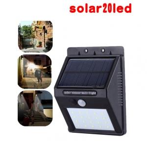 Solar motion sensor light ไฟติดผนังโซล่าเซลล์พลังงานแสงอาทิตย์ 20 led