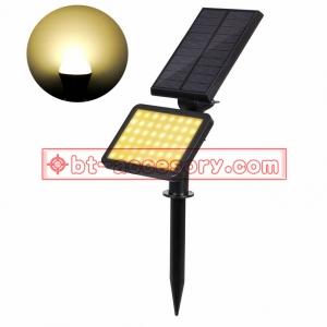 Solar light 48 LEDไฟติดผนัง+สวน พลังงานแสงอาทิตย์ Warm white liht