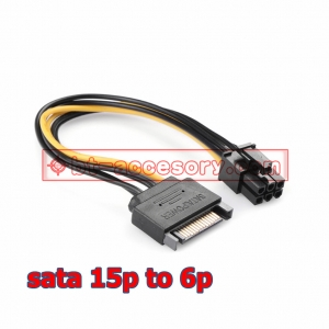 15Pin SATA to 6Pin Power Cable Adapter Connector 6P PCI-E PCI Express Adapter Graphics Video Card Converter Cable