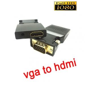 หัวแปลงสัญญาณvga to hdmi with audio converter