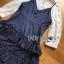 เสื้อผ้าเกาหลี พร้อมส่งเซ็ตเสื้อผ้าลูกไม้แขนยาวสีขาวทับด้วยสายเดี่ยวผ้าเครปน้ำเงินเข้ม thumbnail 11