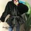 เสื้อผ้าเกาหลีพร้อมส่ง Overcoatแต่งขน ซิปหน้า thumbnail 2
