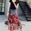 เสื้อผ้าเกาหลีพร้อมส่ง Sheila Black Top + Denim Skirt thumbnail 1