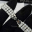 พร้อมส่ง Diamond Bracelet สร้อยข้อมือเพชร3 แถว thumbnail 2