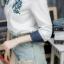 เสื้อผ้าแฟชั่นเกาหลีพร้อมส่ง เสื้อเชิ้ตแขนยาว ดีเทลคอปกและแขนพับ thumbnail 3