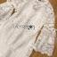 ชุดเดรสเกาหลี พร้อมส่งเดรสผ้าลูกไม้สีขาวสไตล์คลาสสิกเฟมินีน thumbnail 13
