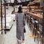 เสื้อผ้าเกาหลีพร้อมส่ง เสื้อโค๊ทตัวยาวแขนยาว คอปก thumbnail 4