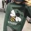 เสื้อผ้าเกาหลีพร้อมส่ง เวตเตอร์ไหมพรมแขนยาวทอลายผึ้งยอดฮิต thumbnail 5