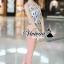 เสื้อผ้าเกาหลี พร้อมส่งPink-mint Bow tie flank waist chic set thumbnail 3