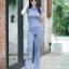 เสื้อผ้าเกาหลีพร้อมส่ง เสื้อยืดคอกลมเเขนสั้น มาคู่กับกางเกงขาม้า thumbnail 6