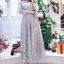 ชุดเดรสเกาหลี พร้อมส่งMiss Grey Princess Stylish Luxury Long Dress thumbnail 8