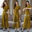 Casual Drape Top With Wide Pants Set thumbnail 8