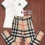 เสื้อผ้าแฟชั่นพร้อมส่ง Setเสื้อวอมเนื้อดีสีขาวคอปกอกเป็นโลโก้ BBR thumbnail 3