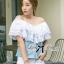 ( พร้อมส่งเสื้อผ้าเกาหลี) เสื้อเปิดไหล่ผ้าลูกไม้ตัดต่อผ้าเดนิมสุดหวาน ตัวนี้เหมาะกับสาวลุคคุณหนูไฮโซหวานๆ ดีเทลเก๋มากที่ช่วงไหล่ถึงอกเป็นผ้าลูกไม้คอตตอนฉลุลายสวยมากๆ มีสองชั้นเป็นเลเยอร์ ตรงคอเสื้อจะเป็นยางยืดนะคะเพื่อจะเปิดไหล่ก็ไดหรือไม่เปิดก็ได้ค่ะ thumbnail 6