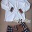 ( พร้อมส่งเสื้อผ้าเกาหลี) เซ็ตเสื้อเชิ้ตและกางเกงผ้าลายเบอร์เบอร์รี่ เซ็ตนี้คุ้มมากๆเพราะได้ถึงสองตัว ใส่เข้าเซ็ตกันก็ดูหรูหราเป็นผู้ดีสุดๆ ลายสวยมากเป็นลายซิกเนเจอร์ของเบอร์เบอร์รี่เลยนะคะ งานเป๊ะมาก ตัวเชิ้ตเป็นเชิ้ตขาวประดับลายตารางสีน้ำตาลที่คอเสื้อแล thumbnail 7