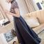 ชุดเดรสเกาหลี พร้อมส่งLong dress ลูกไม้ช่วงตัวบน ขาวดำ thumbnail 3