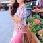 เสื้อผ้าเกาหลี พร้อมส่งเซ็ตเสื้อ+กระโปรง ตัวเสื้อผ้าchiffonพิมพ์ลายดอกสวยเก๋ thumbnail 10