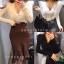 เสื้อผ้าเกาหลีพร้อมส่ง เสื้อแขนยาวงานผ้าknit thumbnail 7