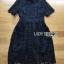 ชุดเดรสเกาหลี พร้อมส่งเดรสผ้าลูกไม้สีดำตกแต่งปกสไตล์แบรนด์ Self-portrait thumbnail 14