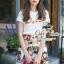 เสื้อผ้าเกาหลี พร้อมส่งชุดเซ็ทแพทเทิร์นแบรนด์เนม thumbnail 2