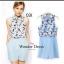 เสื้อผ้าแฟชั่น พร้อมส่ง จั๊มสูทรสีฟ้าพลาสเทล ทรงสวยมาก thumbnail 1