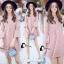 ชุดเดรสเกาหลี พร้อมส่งmini dress สีชมพูพาสเทล thumbnail 7
