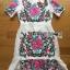 ชุดเดรสเกาหลี พร้อมส่งเดรสผ้าโพลีเอสเตอร์กระโปรงระบายปักลายดอกไม้สีสดใส thumbnail 8