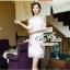 ชุดเดรสเกาหลี พร้อมส่ง เดรสลุคสาวหวานเนื้อผ้าลูกไม้ฉลุลวดลาย thumbnail 12