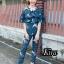 เสื้อผ้าแฟชั่นเกาหลีพร้อมส่ง Jumpsuit สวยลงตัวในชุดเดียว thumbnail 3