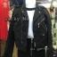 เสื้อผ้าเกาหลีพร้อมส่ง Zipper Suede Leather Biker Jacket thumbnail 4